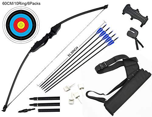 dostyle Outdoor Recurve Pfeil und Bogen Set Bogenschießen Trainingsspielzeug (40 LB)