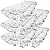 5er Einweg Wischmop aus 100% Baumwolle Wischmopp 40 cm - Baumwollmopp - Wischbezug zur Echtholz trocken und nass Bodenpflege - Ideal für geöltes Parkett Dielen Laminat & Fliesen und Werkstätte mit Metallspähnen (Baumwolle, 40 cm)