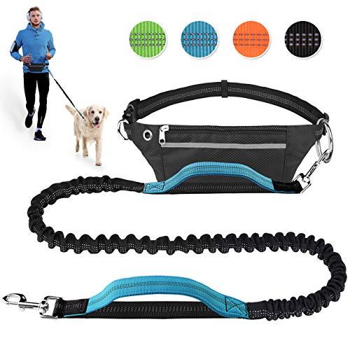 Pet Room Hundeleine Hands Free zum Laufen, Joggen, Wandern, Einziehbare Bungee-Hundeleine für mittelgroße bis große Hunde jogginglein Hund, Verstellbarer Hüftgurt, reflektierende Nähte, Doppelgriff