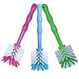 3er Pack Mixtopf Spülbürste mit Nylonborsten - ideal zum Reinigen von Mixtöpfen wie z.B. Thermomix  TM5/TM31 und Mixtöpfe anderer Hersteller - je 1x in Blau/Grün/Pink