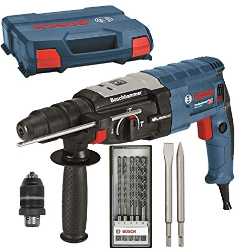 BOSCH Bohrhammer GBH 2-28 F + L-Case + 2x Metabo Meißel + Bosch Bohrer-Set 5 teilig