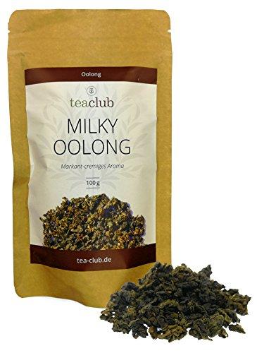 MILKY OOLONG - Premium Oolong Tee mit markant-cremigen Geschmack und blumiger Note / Halbfermentierter Tee (Oolong) von TeaClub / 100g Refill