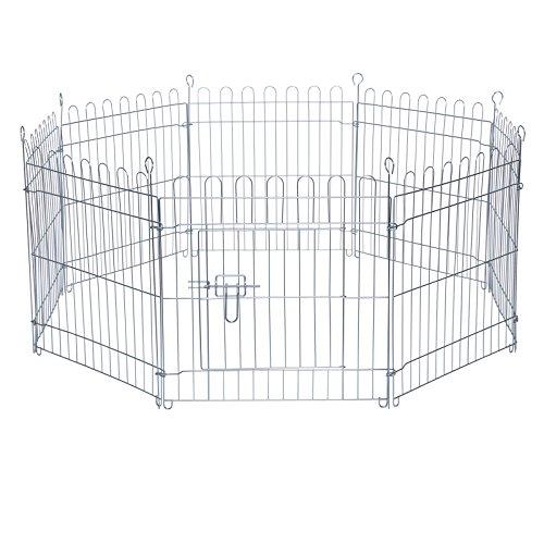 dibea FG00551, Freilaufgehege Laufstallgitter für Kleintiere, 8 - Elemente, höhe 58 cm