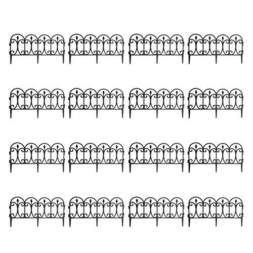 Quantio Beeteinfassung - Kunststoff, Schwarz, 60,5 x 0,7 x 33 cm (LxBxH), erweiterbar, Stückzahl:16 Stück