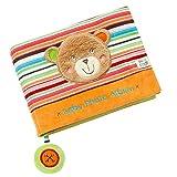 Fehn 091410 Fotobuch Teddy / Weiches Soft-Bilderbuch für 6 Fotos á 10x15 cm / Spielerisch Gesichter merken und Namen lernen für Babys und Kleinkinder ab 0+ Monaten / Maße: 20x15cm