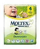 120 St. MOLTEX Nature No1 Ökowindeln Babywindeln MAXI Gr 4 (7-18 kg) 4x 30 Stück