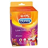 Durex Love Collection Kondome, bunter Kondom Mix-Pack für mehr Abwechslung, 31er (1 x 31 Stück)