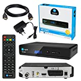 Kabel Receiver DVB-C SET: HB DIGITAL HD 350C DVB-C Receiver für Kabelfernsehen + HDMI Kabel mit Ethernet Funktion und vergoldeten Anschlüssen (Full HD Ready, HDTV, HDMI, SCART, USB 2.0, SPDIF Koaxial Ausgang, 230V/12V Camping Receiver)