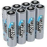 ANSMANN wiederaufladbare Akku Batterien Mignon AA, 1,2V / Typ 2850mAh, NiMH / Schnellladeakku mit hoher Kapazität ohne Memory-Effekt - ideal für Kameras, Blitzgeräte & Fernbedienungen, 8 Stück
