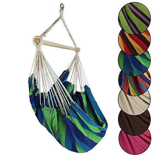Hängestuhl Hängesessel VENEZUELA Belastbarkeit bis 150 kg in vielen Farben von BB Sport, Farbe:Mauritius