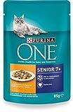 Purina One Katzennassfutter Senior 7+, mit Huhn und grünen Bohnen, 24 x 85g