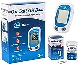 Swiss Point of Care GK Dual Ketone Pack - 1 x GK Dual Messgerät und 1 x Ketone Teststreifen (25 Stück) - Ohne Stechhilfe und Lanzetten (separat erhältlich) -