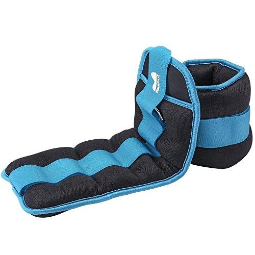 Reehut Gewichtsmanschetten Fuß, Armgewichte Handgelenkgewichte Verstellbar Laufgewichte Set (1 Paar) 1LB bis 10LBS/0.9KG-4.6KG für Fitness, Bewegung, Laufen, Joggen, Gymnastik