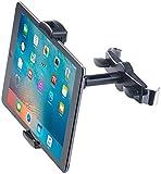 Lescars Kopfstützenhalterung: Universal-360°-Kopfstützen-Halterung für Tablet-PCs & iPads bis 12,9' (Tablet Halter Auto)