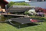 Solax-Sunshine Doppel-Gartenliege Anthrazit