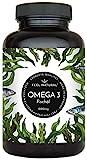 Omega 3 Fischöl Kapseln. Mit 1000mg pro Kapsel. 365 Softgel Kapseln im Jahresvorrat. Mit den Omega 3 Fettsäuren EPA und DHA. Ohne unerwünschte Zusätze. Hergestellt in Deutschland