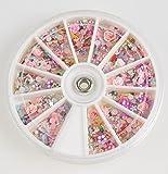 yibenwanligod Nagelkunst mit Blumen, 1200 Stück