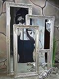 Livitat Wandspiegel 140 x 50 cm Spiegel Badspiegel barock antik silber
