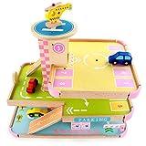 Kinderspielzeug für Kinder, um Geburtstagsgeschenk Simulationsmodell der hölzernen Kinder der mehrstöckigen Parkhäuser Spaß-Spiel-pädagogisches Spielzeug für Mädchen Jungen Kinder Kindergeburtstag, Ki
