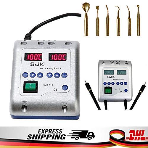 Electric Wachs Waxer Maschine Elektrisch Wachsmesser + 6 Wax Tips Dental Lab DHL