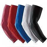 LP Support SL51 Performance Armstulpen, Arm-Sleeve, Ellenbogen-Schoner, Unterarm-Bandage, Power-Shooter, Sportstulpe, Unterarmstulpe, Kompressions-Armlinge, Elbow Sleeve, Ellenbogen-Schützer, Größe:L, Farbe:1 x weiß