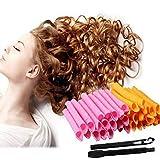 Lockenwickler magic spiral rollen Haare roller Lockenstäbe kunststoff mit Styling-Werkzeug haarschonend Diy für Damen 50cm 40 Stück