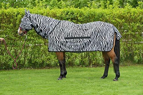 RidersDeal Collection Fliegendecke Zebra inkl. Halsteil, Größe: 155cm, Farbe: Schwarz-Weiß