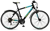Crossrad Winora Tonga Herren 28' 21-Gang Shimano TX35 , Rahmenhöhen:61;Farben:schwarz/jade matt