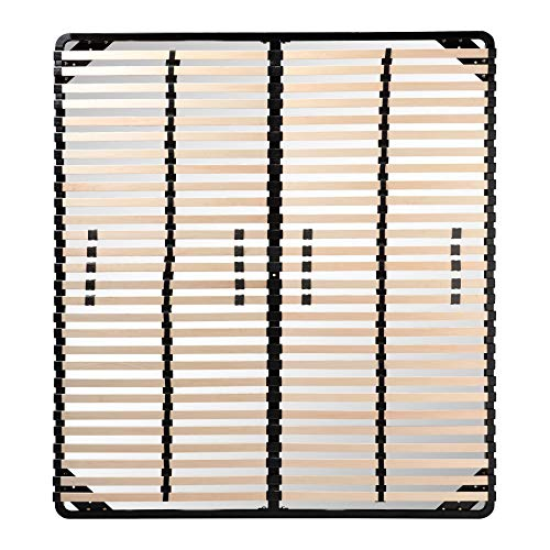 i-flair Lattenrost 200x200 cm, Lattenrahmen - für alle Matratzen geeignet