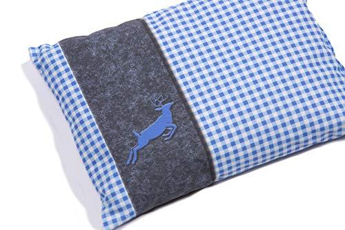 SLOUCHER - Kräuterkissen aus zertifizierter Bio-Baumwolle, Farbe (Home):blau