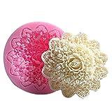 ODN 3D Silikonform Spitze Blume Form Kuchen Handgemachte Seife Silikonform DIY Deko Fondant Torten