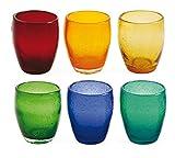 Villa d'Este Home Tivoli 6er Set Gläser-Set Acapulco/Regenbogen vielfarbig