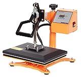 RICOO Transferpresse Power Zwerg-GS Druckfläche: 23x30cm Textildruckpresse Textilpresse Transfer Presse Thermopresse T-Shirtpresse Sublimationspresse geeignet für Flexfolie und Flockfolie || Shirt bedrucken günstig || Farbe:Gelb / Orange …