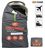 Beschan Standard Doppel XL Kinderwagen Transporttaschen Tragetasche Faltbar mit Schulterriemen für Flughafen, Bahnhof, Autofahrten