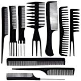 ZOEON 10 Stück Hair Styling Kämme Friseur Kämme Set für Salon