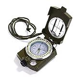 GWHOLE Kompass Militär Marschkompass mit Tasche für Camping, Wanderung, deutsche Anleitung