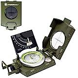 STEINBOCK7 Marschkompass Outdoor Kompass Peilkompass – Wasserdicht, Metall (Army-Green)