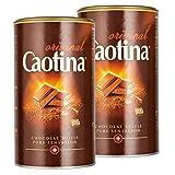 Caotina original, Kakao Pulver mit Schweizer Schokolade, heiße Schokolade, Trinkschokolade, 2er Pack, 2 x 500g