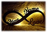 Valentinstagsgeschenk Infinity I personalisiert mit Namen I Das perfekte Liebesgeschenk Geschenk Liebe zum Valentinstag, Hochzeit, Verlobung, Geburtstag oder Jahrestag für Frau Mann Freund Freundin Paare Männer Frauen