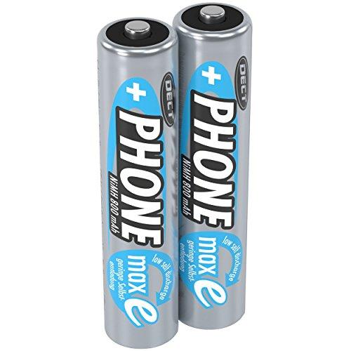 ANSMANN Akku Batterie AAA für Schnurlostelefon, 1,2V / 800mAh / Wiederaufladbare Micro AAA Telefonakkus mit geringer Entladung & ohne Memory Effekt, Ideal für DECT-Telefone (2er Pack)