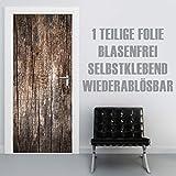 XXL-Tapeten Türtapete selbstklebend TürPoster Old Wood im Format 90x210cm - Türfolie Klebefolie von Trendwände