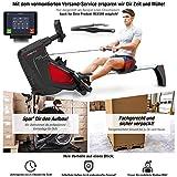 Sportstech Rudergerät RSX500 mit Smartphone steuerbar - Pulsgurt im Wert von 39,90 inkl. - Fitness App - 16 Programme - Magnetwiderstand - Wettkampfmodus - klappbar (RSX500_Aufgebaut)