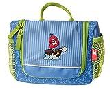 sigikid, Jungen, Hänge-Kulturtasche, Motiv Sammy Samoa, Mehrfarbig (Blau/Grün), 24754
