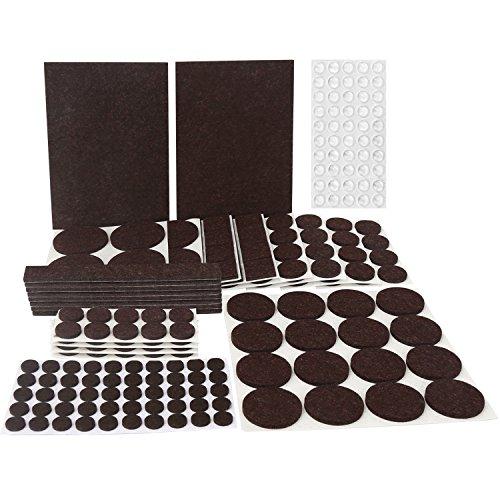 Filzgleiter set, 246-Teilig Matdom Filzgleiter Sortiment, Filzunterleger,9 Größen Möbelgleiter für Möbel, Stühle und Tische, Hochwertig und Langlebig (Dunkelbraun)