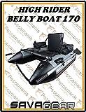 Savage Gear High Rider Belly Boat 170 - Bellyboot zum Spinn- & Fliegenfischen vom Boot, Schlauboot, Bellyboat, Belly Boot