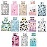Kinder Bettwäsche 100 x 135 cm + Kissen 40 x 60 cm 100% Baumwolle, mit verschiedenen Motiven - Kinderbettwäsche-Set, Babybettwäsche, Bärchen