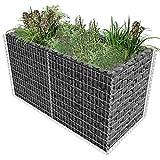 vidaXL Gabione Pflanzenkorb Stahl 180 x 90 x 100 cm Silber