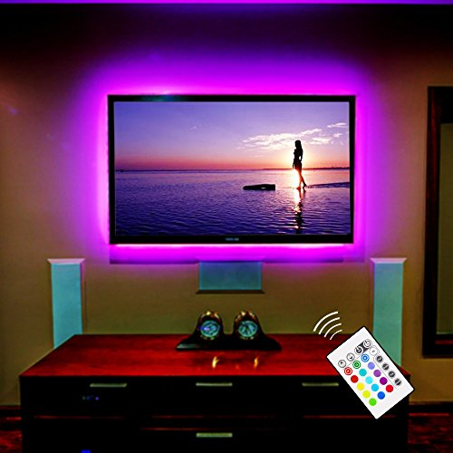 USB LED TV Hintergrundbeleuchtung für 60 bis 75 Zoll TV Backlight / Fernseher Beleuchtung Dekoration RGB LED Band Streifen Lighting