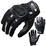 Motorradhandschuhe PROANTI Motorrad Handschuhe Sommer (Gr. XS - XXL, schwarz, kurz) - L