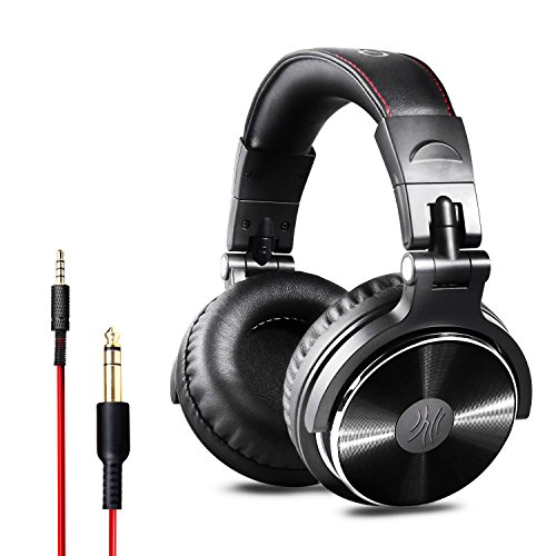 OneOdio DJ Kopfhörer, Studiokopfhörer, Over-Ear Headset, Adapter-frei Geschlossener Headphone 6,3mm & 3,5 mm Stereo / Studio Monitor & Mixing / Teleskoparme mit Skala / neuester 50mm Neodym Treiber